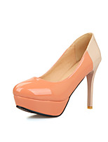 Women's Shoes Stiletto Heel Round Toe / Closed Toe Heels Office & Career / Dress / Casual Black / Pink / Red