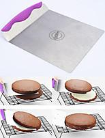 Edelstahl Kuchenheber Cookie runde Kuchenschaufel Fach Backenwerkzeuge (gelegentliche Farbe)