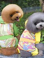 Casacos / Calças / Camisola com Capuz - Inverno - Verde / Amarelo - Casamento / Fantasias - de Algodão / Malha polar - para Cães / Gatos -