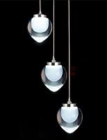3 Lights Peach Design Acrylic LED Pendant Light