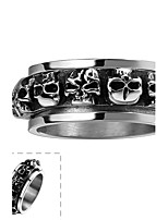 Ring Stainless Steel Skull / Skeleton Jewelry Unique Design Fashion Punk Silver Jewelry Halloween Daily Casual Sports 1pc
