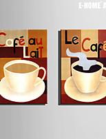 Cibo e bevande Print Canvas Due pannelli Pronto da appendere , Verticale