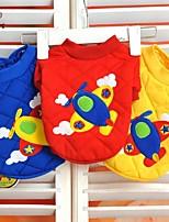 Invierno - Rojo / Azul / Amarillo - Boda / Cosplay - Algodón - Abrigos / Camiseta - Perros / Gatos - XXS / XS / S / M / L