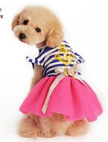 FUN OF PETS® Cute Navy Style Stripe Design Princess Dress for Pets Dogs(Assorted Sizes and Colours)