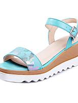 Women's Shoes Leatherette Platform Open Toe Sandals Casual Black / Blue / Pink / White