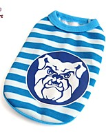 FUN OF PETS® Cartoon Dog Pattern Stripe Design Vest for Pets Dogs(Assorted Sizes)