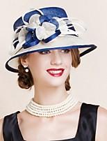 Women Party Summer Linen Bowler/Cloche Hat