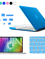 ENKAY 4 in 1 Matte Hard Protective Case + Screen Protector + Keyboard Film + Anti-dust Plugs for MacBook Pro 15.4 inch