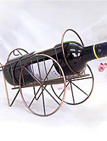 Cart Shaped Wine Bottle Rack Retro Stainless Iron Wine Holder