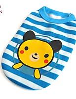Camiseta - Verão - Azul - Casamento / Fantasias - de Algodão - para Cães / Gatos - XS / S / M