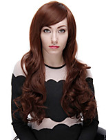 Synthetic Wig 28 Inch Fashion Women Long Wave Wigs with Side Bangs