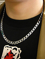 Necklace Chain Necklaces Jewelry Wedding / Party / Daily / Casual Fashion Titanium Steel Silver 1pc Gift