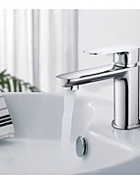 Brass Single Hole Bathroom Faucet Basin Faucets Hot and Cold Water Mixer Tap