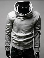 Men's Long Sleeve Hoodie & Sweatshirt , Cotton Blend / Polyester Pure