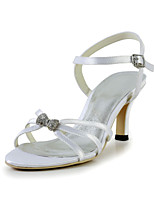 Women's Shoes Satin Stiletto Heel Heels / Peep Toe Sandals Wedding / Office & Career / Party & Evening / Dress /White