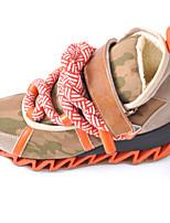 Zapatos de mujer Sintético Tacón Bajo Punta Cerrada Sneakers a la Moda Exterior/Casual/Deporte Negro/Blanco/Naranja