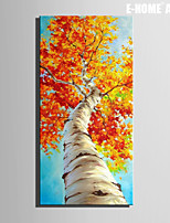 E-HOME® Stretched Canvas Art  Red Leaves of The Tree Decoration Painting  One Pcs