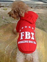 FUN OF PETS® Stylish FBI Pattern Cotton T-Shirt with Hoodie for Pets Dogs (Assorted Colours and Sizes)