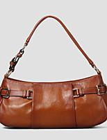 Women 's Cowhide Hobo Shoulder Bag/Tote - Brown