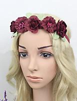 Women Fabric Headband , Party Vintage Polyester Flower Headpiece
