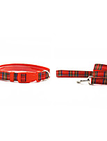 Rojo/Verde/Gris/Beige Textil/Nilón - Collar - Perros/Gatos -