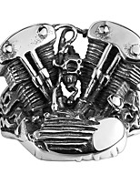Steam Punk Men Finger Rings Silver Plated 316L Stainless Steel Jewelry Ring For Man Biker