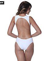 I-Glam Bikini Back Open Sexy One-piece Swimwear White