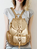 Women PU Baguette Backpack - Pink / Silver / Gray / Black / Champagne
