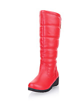 Mujer-Tacón Cuña-Plataforma / Botas a la Moda-Botas-Exterior / Oficina y Trabajo / Casual-Semicuero-Negro / Marrón / Rojo / Naranja