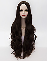 Long Loose Wavy U Part Hair Black Heat-resistant Synthetic European Fashion Party Wig