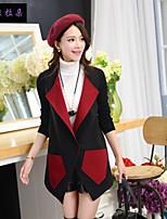 Women's Long Sleeve Knitwear/Nylon Coat , Vintage/Casual/Cute/Party/Work