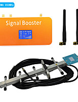 New LCD Display CDMA 850MHz Mobile Phone Signal Repeater Booster Amplifier with Whip and Yagi Antennas Coverage 500m²