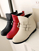 Women's Shoes Platform Fashion Boots/Round Toe Boots Dress/Casual Black/Red/Beige