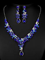 Sea Blue Multicolor Zircon Jewelry Set for Wedding Party