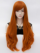 Elegant Long Wavy Hair Cosplay Wig  Heat Resist Synthetic Party hair Orange