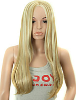 Fake Hair Wigs 28 Inch Long Wave Blonde Synthetic Women Wig