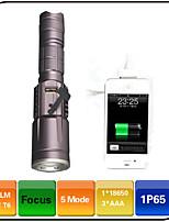 Torce LED - LED - Campeggio/Escursionismo/Speleologia/Viaggi - Messa a fuoco regolabile/Impermeabili/Ricaricabile/Resistente agli urti 5