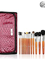 SY 15PCS Cosmetic Brush Set/Mink Hair Brush/Weasel Brush/Nylon Brush/Synthetic Hair
