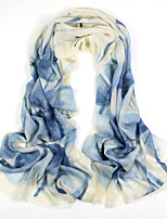 Women's Winter 100% Wool Hand printed scarf Scarf