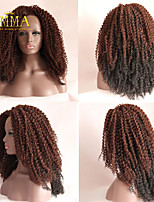 2015 New Ombre Curly Wig Hand Tied Natural Lace Wig Hot Curly Hairstyle Chic Sexy Popular Ombre Lace Wig