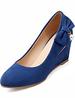 Women's Shoes  Wedge Heel Heels/Round Toe Pumps/Heels Dress Black/Blue/Red/Beige