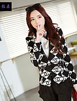Women's Long Sleeve Blazer , Polyester Short Vintage/Casual/Print/Cute/Party/Work