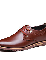 Men's Shoes Casual Leather Oxfords Black / Brown