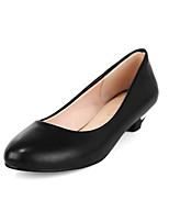Women's Heels Spring Comfort Microfibre Casual Low Heel Blushing Pink Blue Beige Black