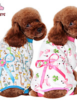 FUN OF PETS® Cute Cotton Bears Printing Lounwear with Pants for Pets Dogs (Assorted Sizes and Colours)