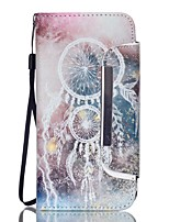 EFORCASE White Campanula Split Lanyard Painted PU Phone Case for Galaxy S6 edge S6 S5 S4 S3 S5 mini S4 mini