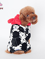 FUN OF PETS® Lovely Little Bear Pattern Coat with Hoodie for Pets Dogs (Assorted Sizes and Colours)