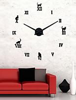 Uermerstar Black Metal Modern Diy Large Home Decor Wall Clocks Diameter 39 in