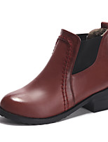 Women's Shoes Chunky Heel Fashion Boots/Round Toe Boots Dress Black/Brown/Taupe/Burgundy