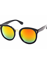 100% UV400 Round Fashion Colorful Mirrored Sunglasses